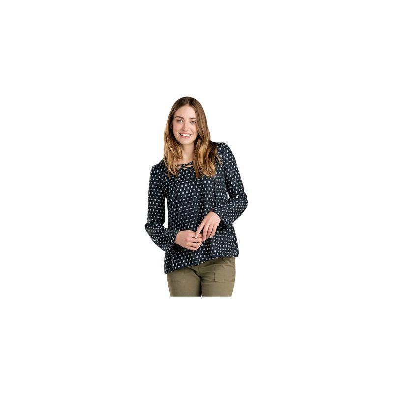 トードアンドコー レディース シャツ トップス Womens Hillrose Long Sleeve Shirt XS - Black Mod Dot Print