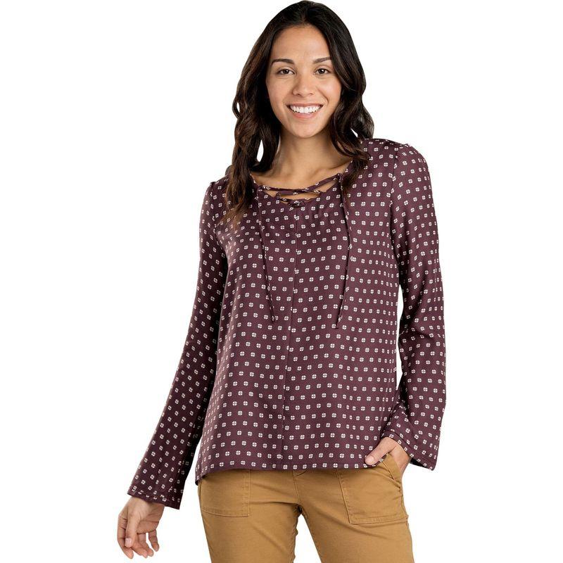 トードアンドコー レディース シャツ トップス Womens Hillrose Long Sleeve Shirt XS - Huckleberry Mod Dot Print