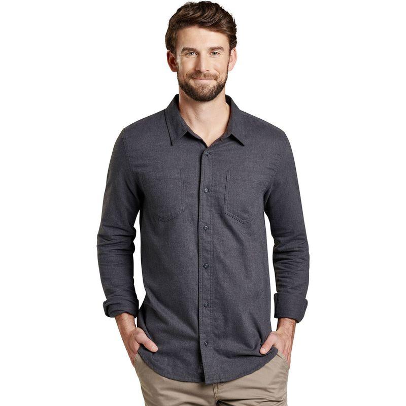 トードアンドコー メンズ シャツ トップス Mens Flannagan Slim Long Sleeve Shirt S - Charcoal Heather