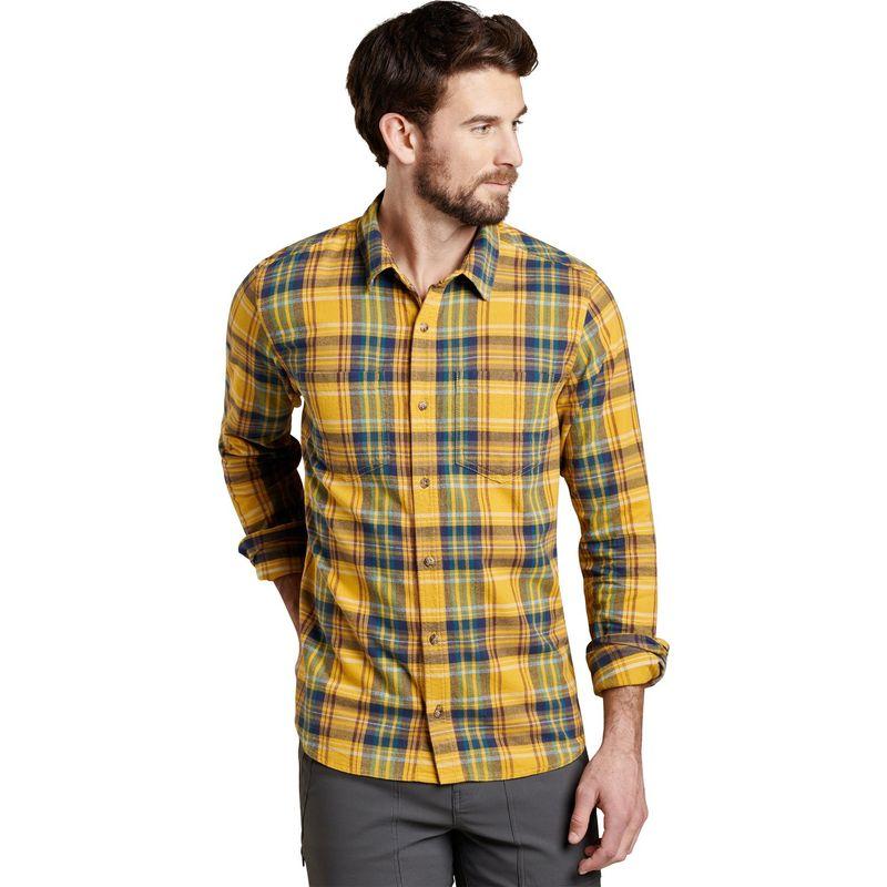 トードアンドコー メンズ シャツ トップス Mens Flannagan Slim Long Sleeve Shirt S - Golden Hour