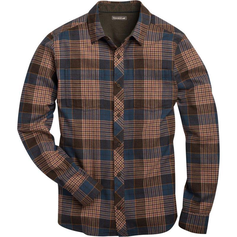 トードアンドコー メンズ シャツ トップス Mens Flannagan Slim Long Sleeve Shirt XXL - Blue Wing Teal