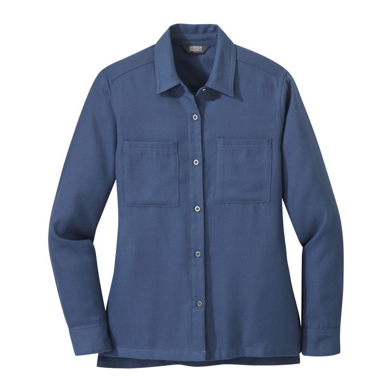 アウトドアリサーチ レディース シャツ トップス Women's Feedback Flannel Shirt XS - Steel Blue