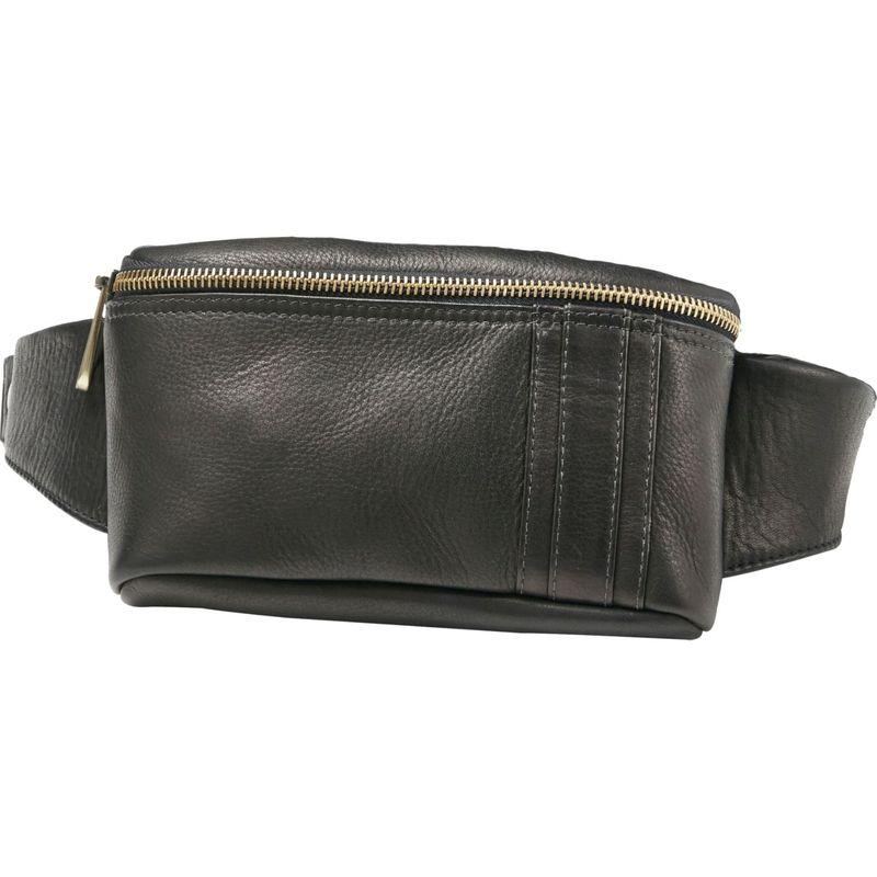クレバ メンズ ボディバッグ・ウエストポーチ バッグ Roadster Leather Waist Pack Vachetta Black