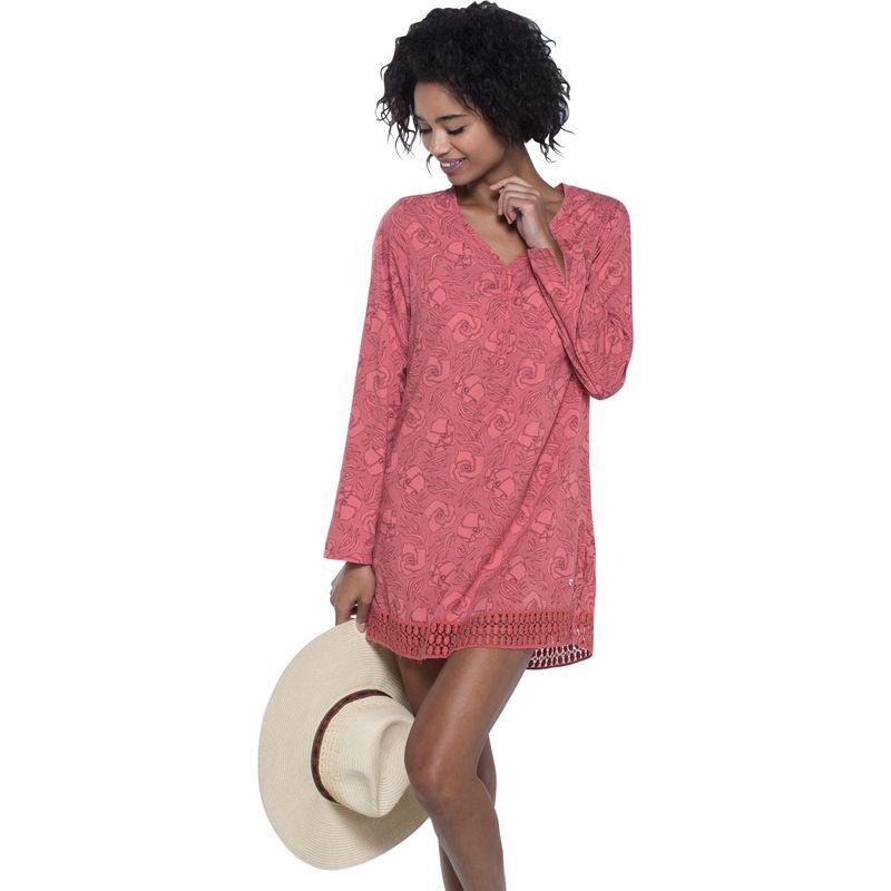 トードアンドコー レディース シャツ トップス Sunlight Tunic S - Spiced Coral Floral Print