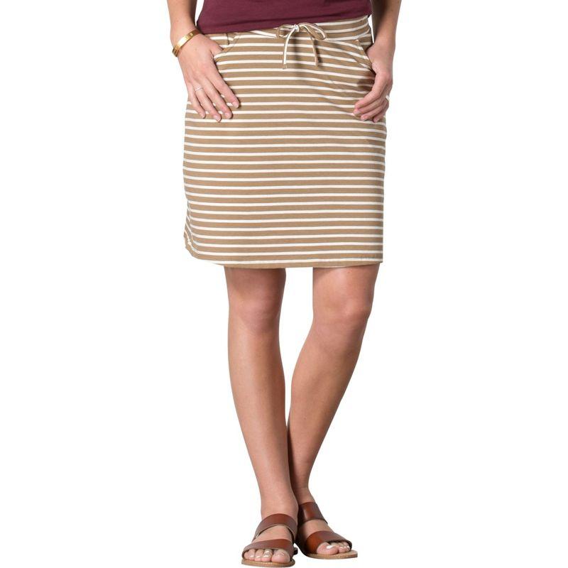 トードアンドコー レディース スカート ボトムス Tica Skirt XL - Honey Brown Stripe