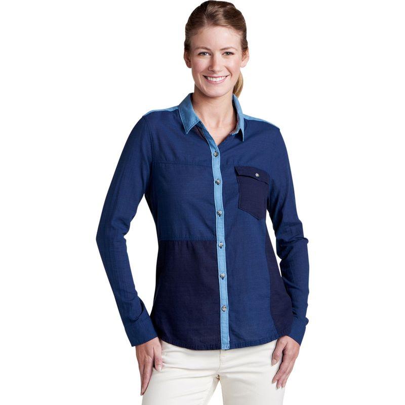 トードアンドコー レディース シャツ トップス Womens Las Indigas Long Sleeve Shirt XS - Medium Indigo Solid
