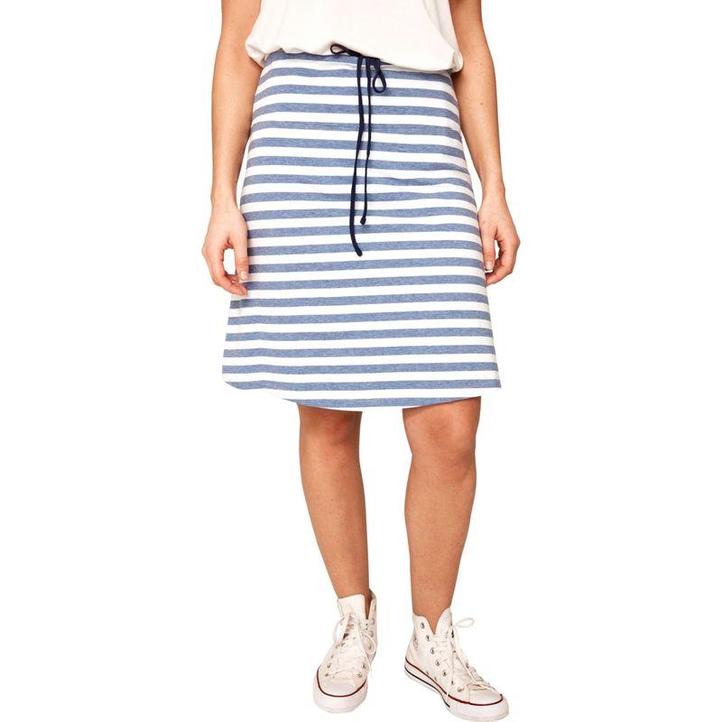 ロル レディース スカート ボトムス Lunner Skirt XS - Heather Blue Denim Stripes