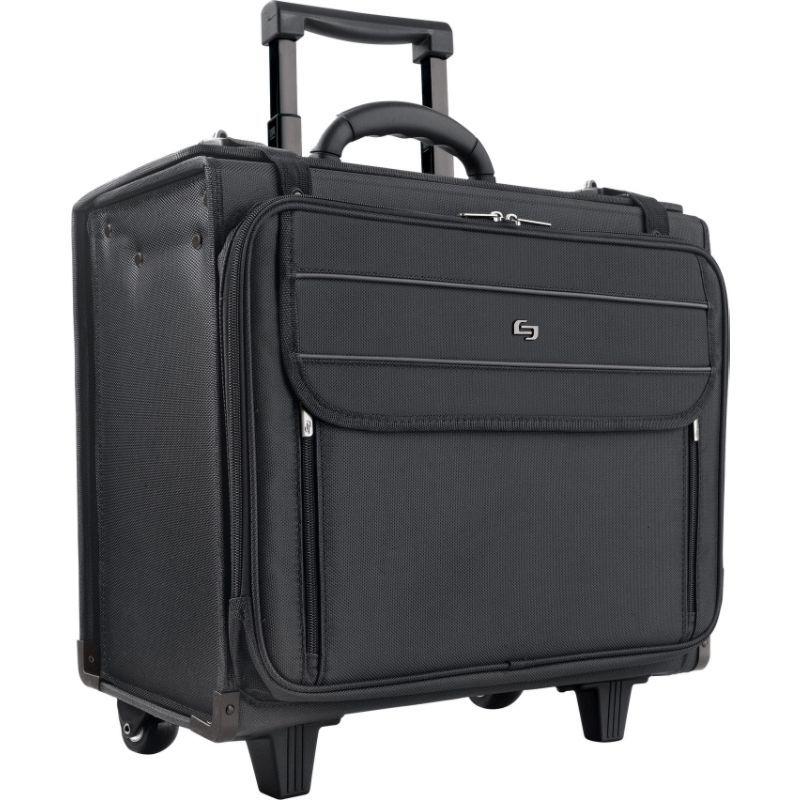 ソロ メンズ スーツケース バッグ 17.3 Laptop Rolling Catalog Case, Hanging File System Black