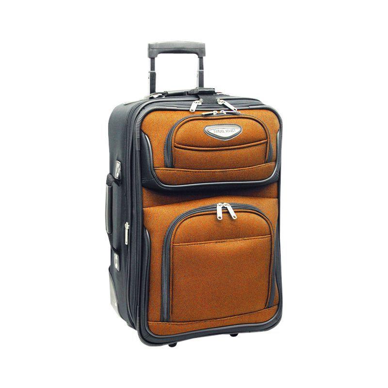 トラベラーズチョイス メンズ スーツケース バッグ Amsterdam 21 in. Expandable Carry-on Rolling Upright Orange
