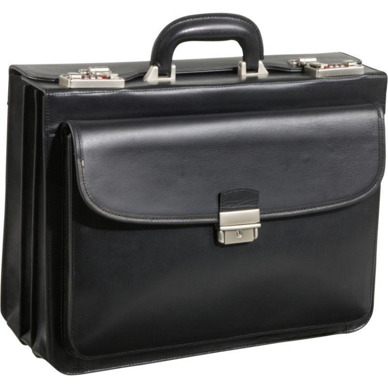 アメリ メンズ スーツケース バッグ Modern Attache Leather Executive Brief Black