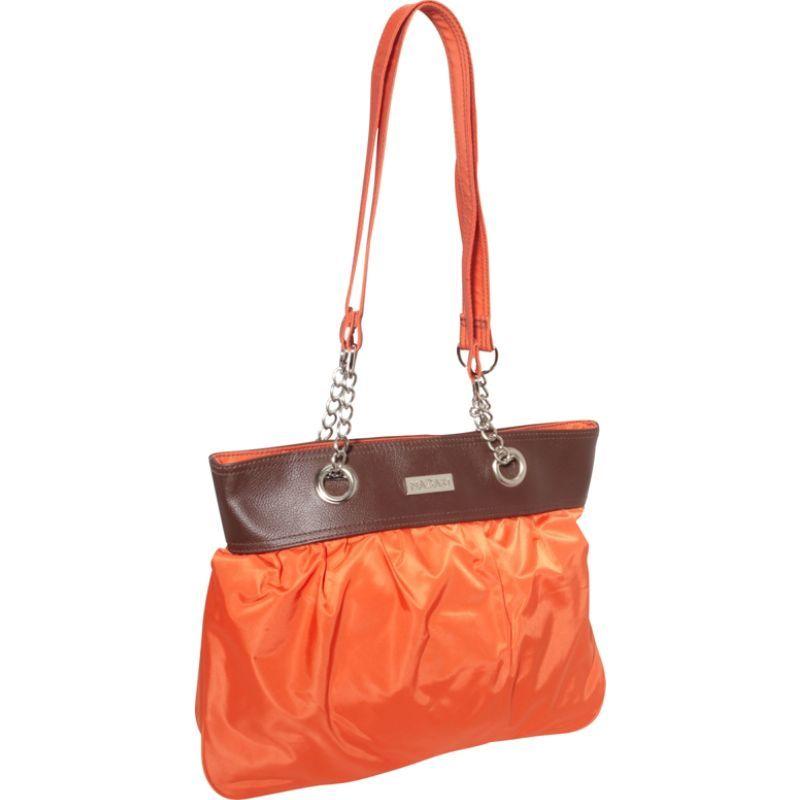 ハダキ メンズ トートバッグ バッグ Nylon Brickabrack Tote Pod Orange/Chocolate