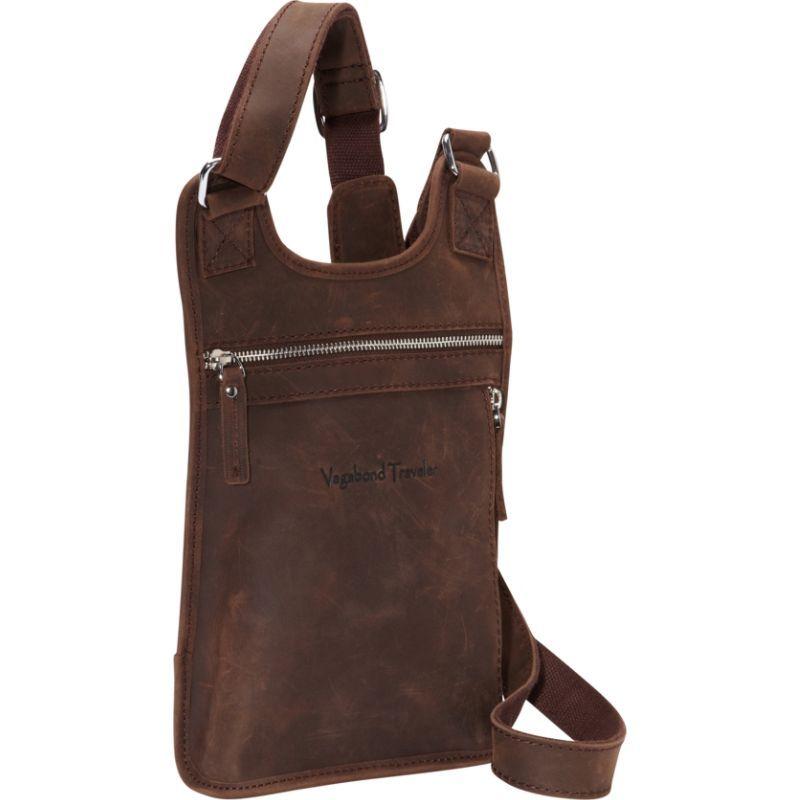 ヴァガボンドトラベラー メンズ ショルダーバッグ バッグ Leather Sling Dark Brown