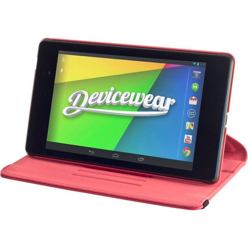 デバイスウェア メンズ PC・モバイルギア アクセサリー Google Nexus 7 - The Ridge: Vegan Leather Case Red