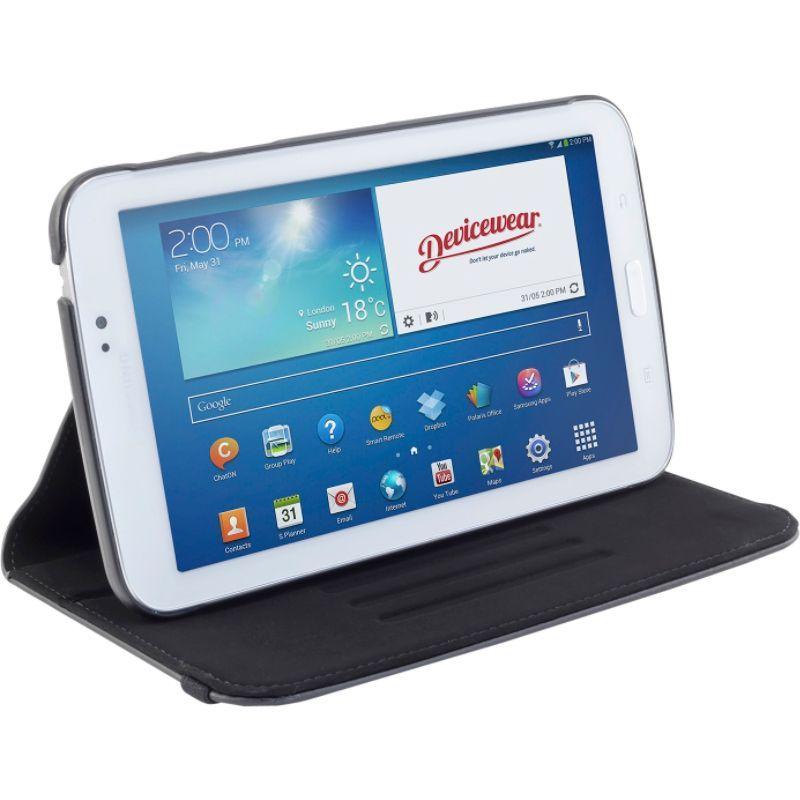 デバイスウェア メンズ PC・モバイルギア アクセサリー Samsung Galaxy Tab 3 - The Ridge: Vegan Leather Slim Case Black