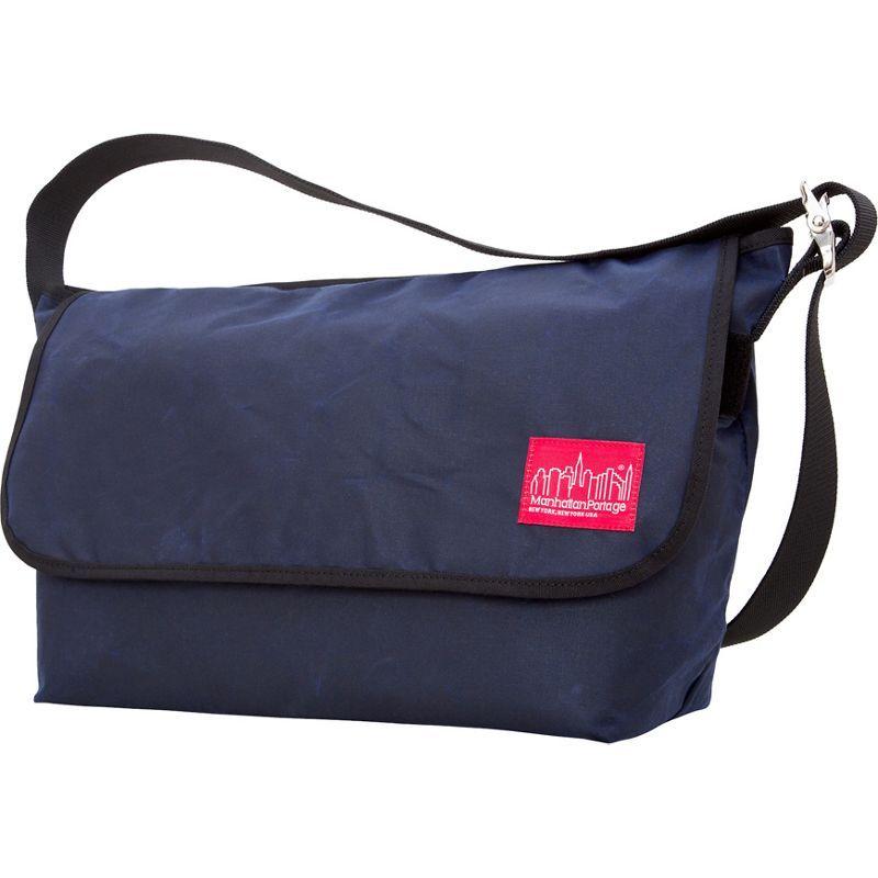 マンハッタンポーテージ メンズ ショルダーバッグ バッグ Waxed Vintage Messenger Bag (LG) Navy