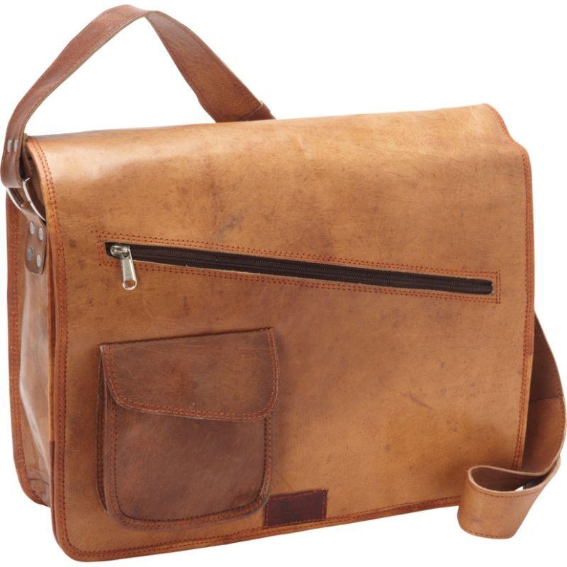 シャロレザーバッグス メンズ スーツケース バッグ Computer Messenger Bag Brown