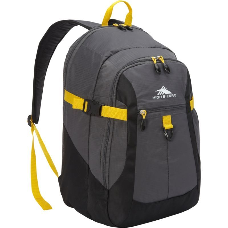 ハイシエラ メンズ バックパック・リュックサック バッグ Sportour Computer Backpack Grey/Black/Sunflower