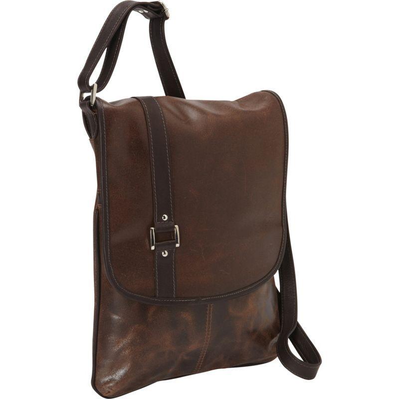 ピエール メンズ ショルダーバッグ バッグ Vintage Laptop Vertical Slim Messenger Bag Vintage Brown
