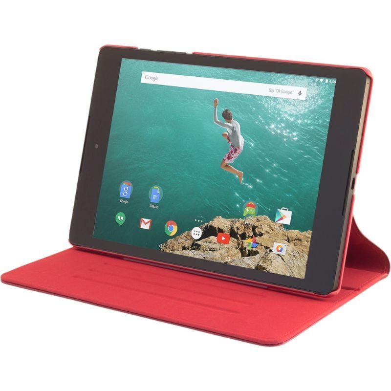 デバイスウェア メンズ PC・モバイルギア アクセサリー Slim Google Nexus 9 case: The Ridge with Six Position Flip Stand (Cover Compatible Only with Google Nexus 9) Red