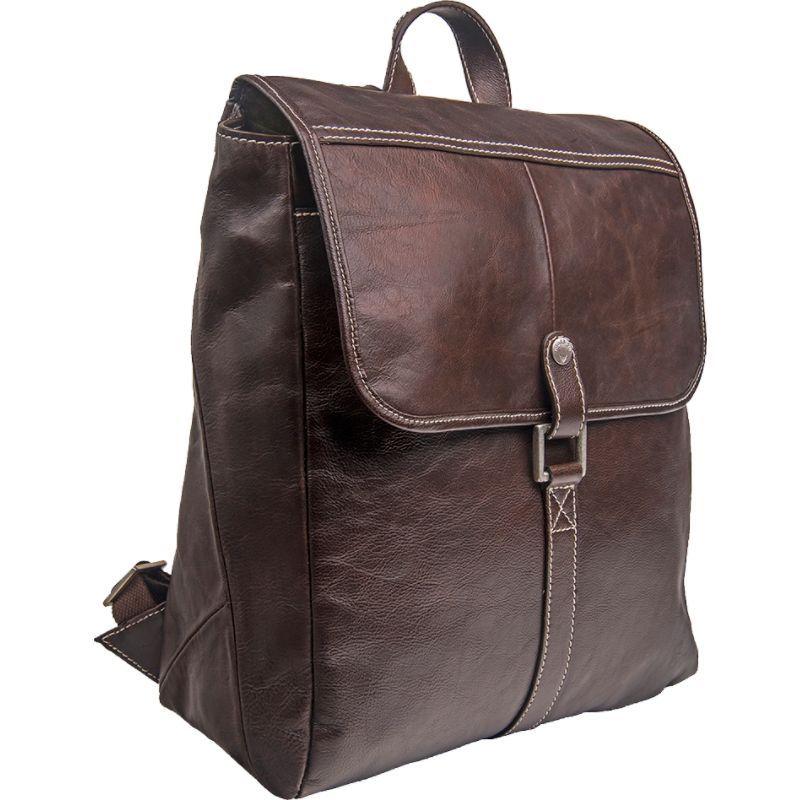ハイデザイン メンズ スーツケース バッグ Hector Leather Backpack Brown