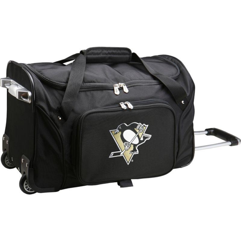 デンコスポーツ メンズ スーツケース バッグ NHL 22 Rolling Duffel Pittsburgh Penguins