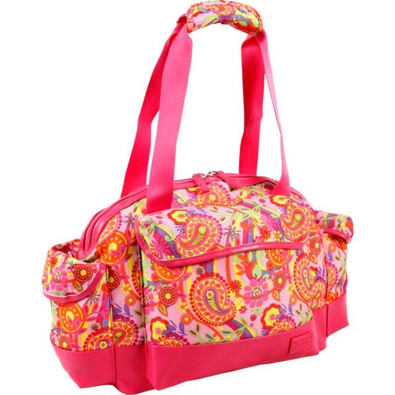 ジャイワールドニューヨーク メンズ スーツケース バッグ Deca Duffel Bag Pink Paisley
