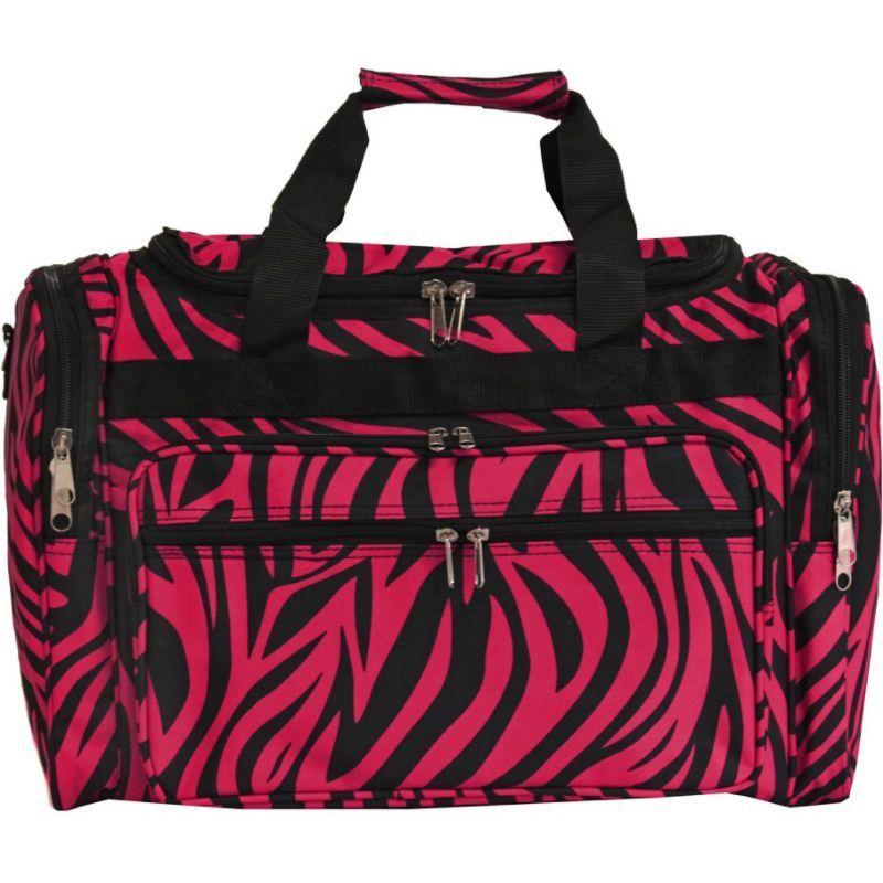 ワールドトラベラー メンズ スーツケース バッグ Zebra 19 Shoulder Duffle Bag Fuchsia Black Zebra