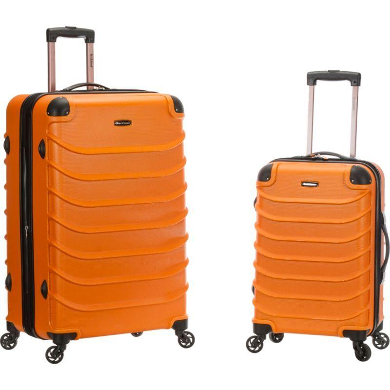 ロックランド メンズ スーツケース バッグ 2pc Speciale Expandable ABS Spinner Set Orange