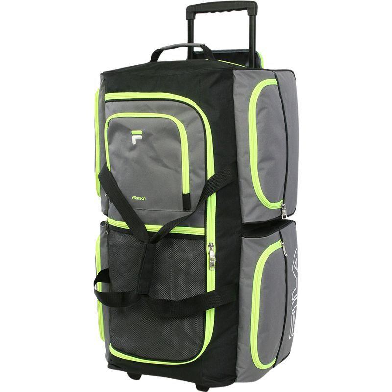 フィラ メンズ スーツケース バッグ 7-Pocket Large Rolling Duffel Bag Grey/Neon Green