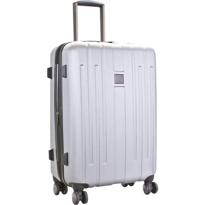 """カルバンクライン メンズ スーツケース バッグ Cortlandt 3.0 28"""" Upright Hardside Spinner Silver"""