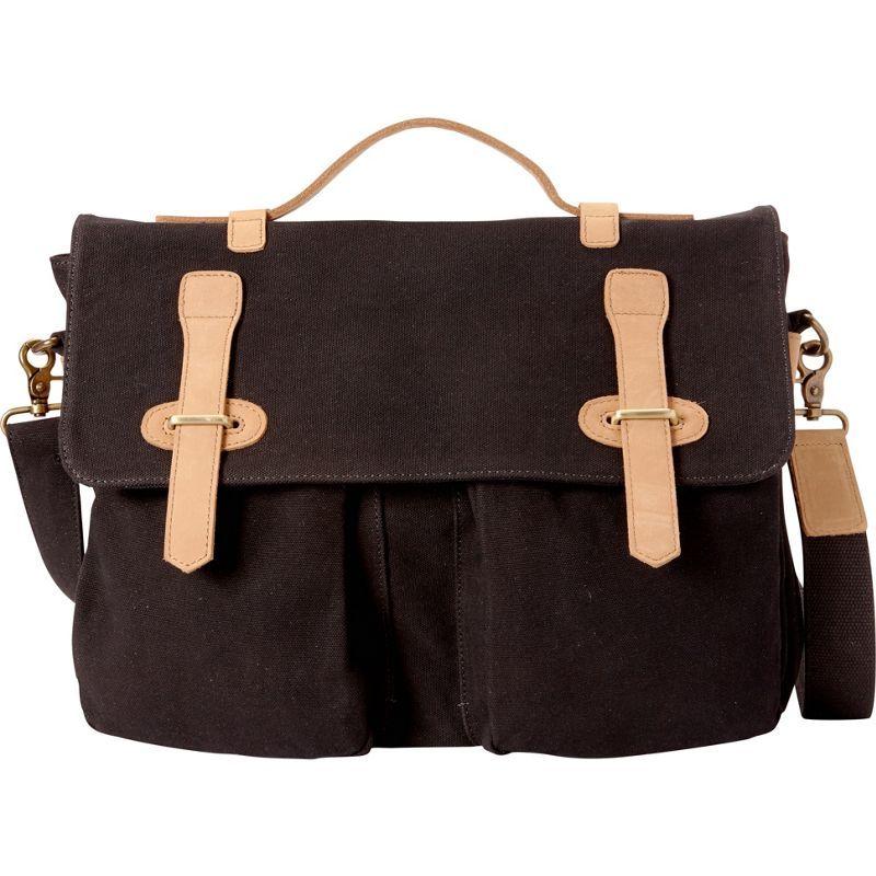 ヴァガボンドトラベラー メンズ ショルダーバッグ バッグ Casual Style Canvas Laptop Messenger Bag Black