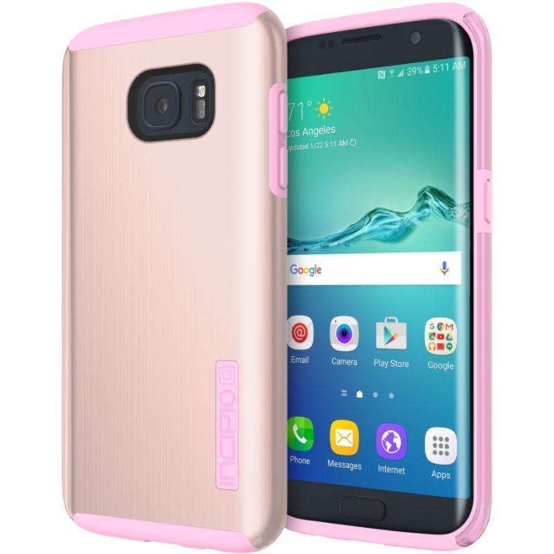 インシピオ メンズ PC・モバイルギア アクセサリー DualPro Shine for Samsung Galaxy S7 Edge Rose Gold/Pink
