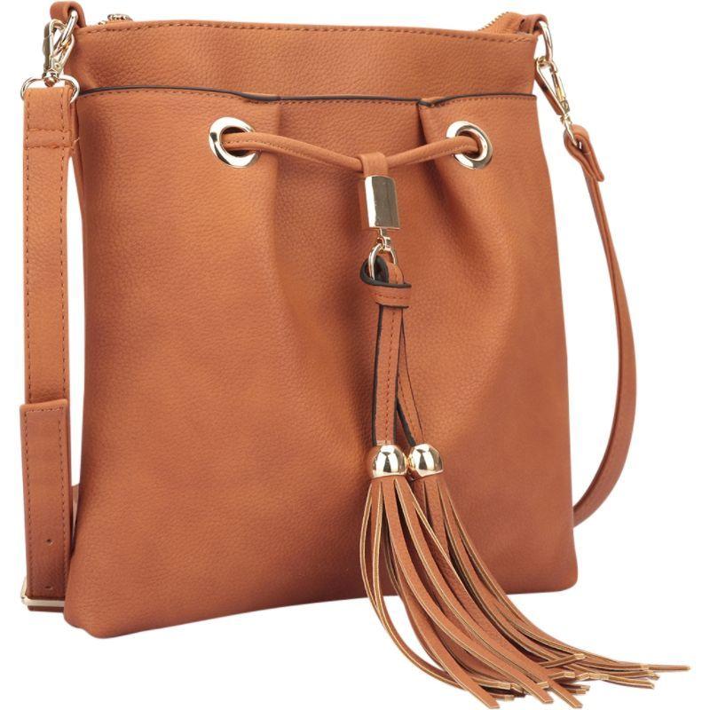 ダセイン メンズ ボディバッグ・ウエストポーチ バッグ Crossbody bag with fringe details Brown