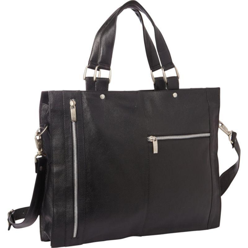 ピエール メンズ スーツケース バッグ Soft Sided Leather Portfolio Black