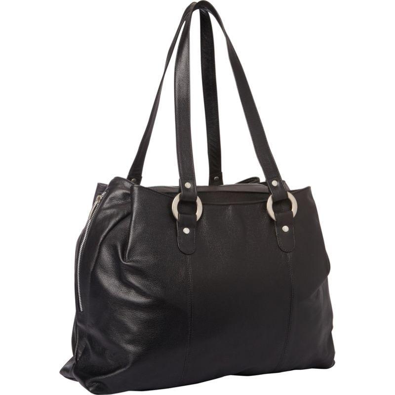 ピエール メンズ スーツケース バッグ Three Compartment Leather Tote Black