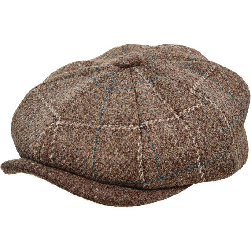 ステトソン メンズ 帽子 アクセサリー Italian Fabric 8/4 Cap Brown-Large