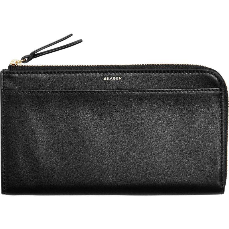 スカーゲン メンズ PC・モバイルギア アクセサリー Leather Phone Wallet Black