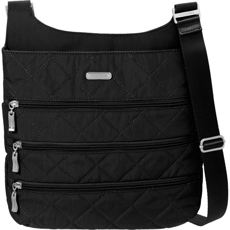 バッガリーニ メンズ ボディバッグ・ウエストポーチ バッグ Quilted Big Zipper Bagg Crossbody with RFID Black Quilt