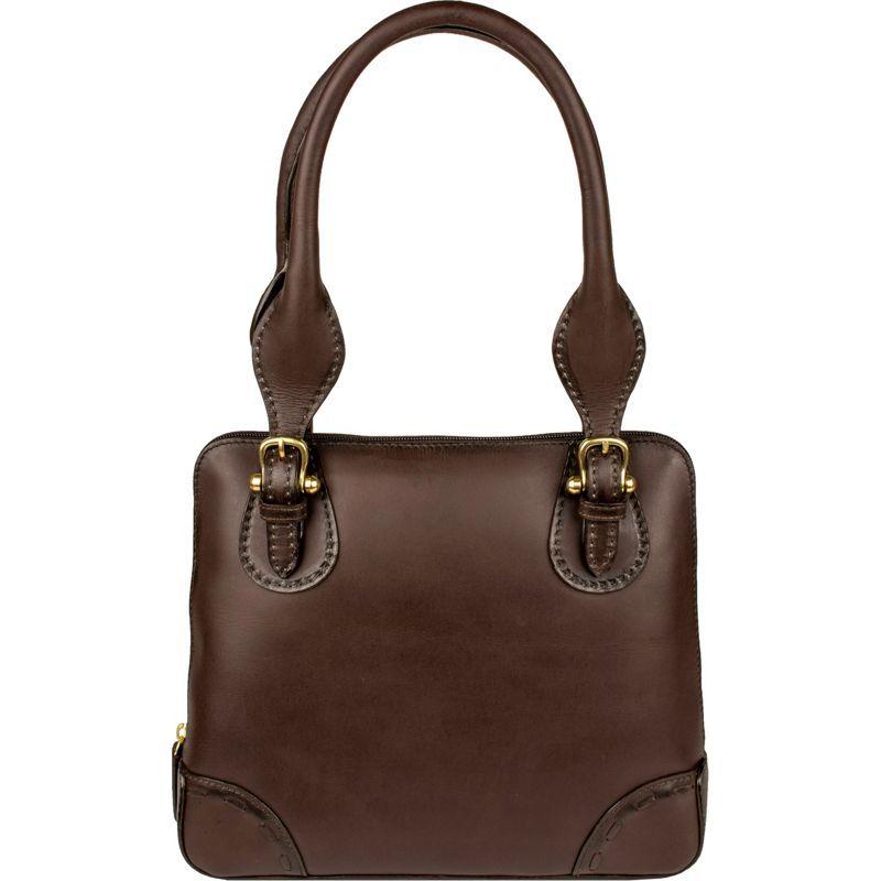 スカーリー メンズ ショルダーバッグ バッグ Pebbled Brown Calf Leather Shoulder Bag Pebbled Leather Brown