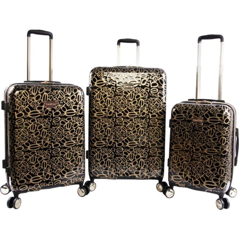 ベベ メンズ スーツケース バッグ Annabelle 3 Piece Set Suitcase with Spinner Wheels Black/Gold