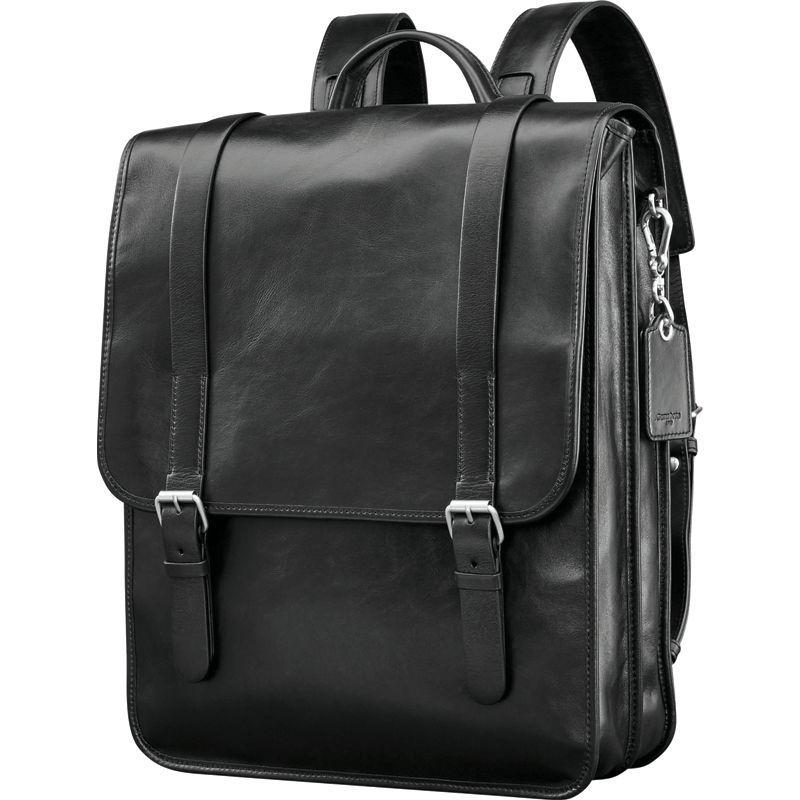 サムソナイト メンズ スーツケース バッグ Mens Leather 1910 Hertiage Backpack Black