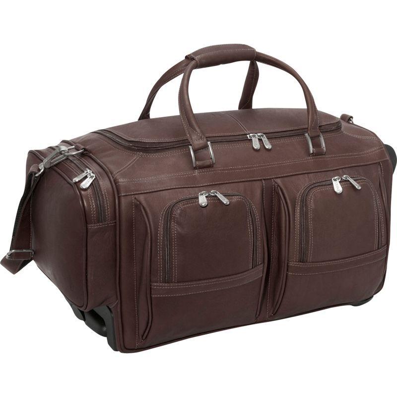ピエール メンズ スーツケース バッグ Duffel 22 With Pockets on Wheels Chocolate