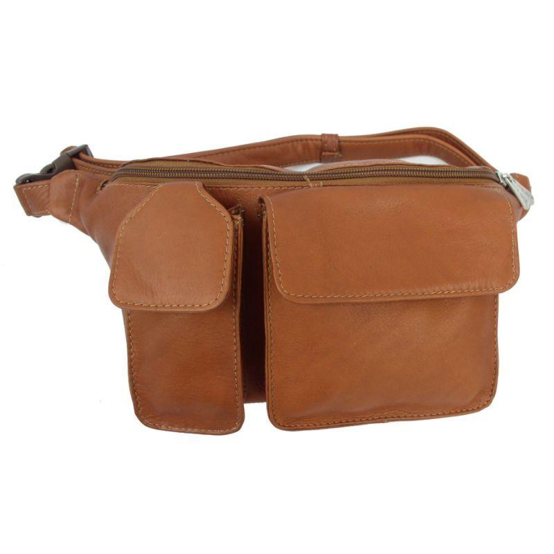 ピエール メンズ ボディバッグ・ウエストポーチ バッグ Waist Bag with Phone Pocket Saddle