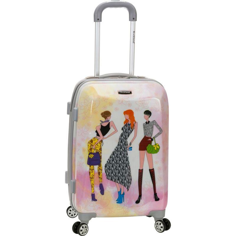 ロックランド メンズ スーツケース バッグ 20 Vision Polycarbonate Carry-On Fashion