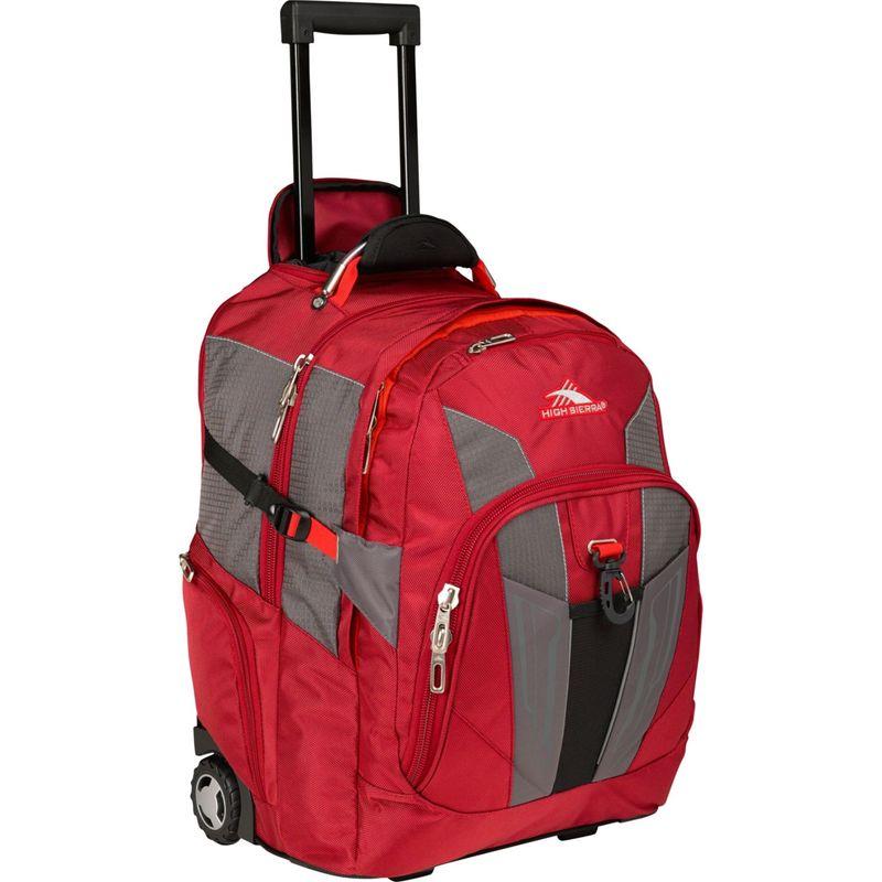 送料無料 サイズ交換無料 ハイシエラ メンズ バッグ スーツケース Carmine Red, Red Line, Black ハイシエラ メンズ スーツケース バッグ XBT Wheeled Laptop Backpack Carmine Red, Red Line, Black