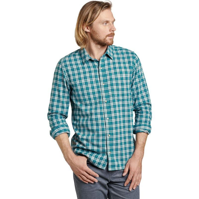 トードアンドコー メンズ シャツ トップス Mens Flannagan Long Sleeve Shirt S - Blue Spruce