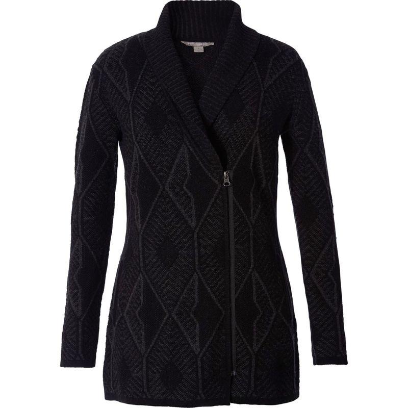 ロイヤルロビンズ レディース ニット・セーター アウター Womens All Season Merino Zip Cardigan S - Charcoal