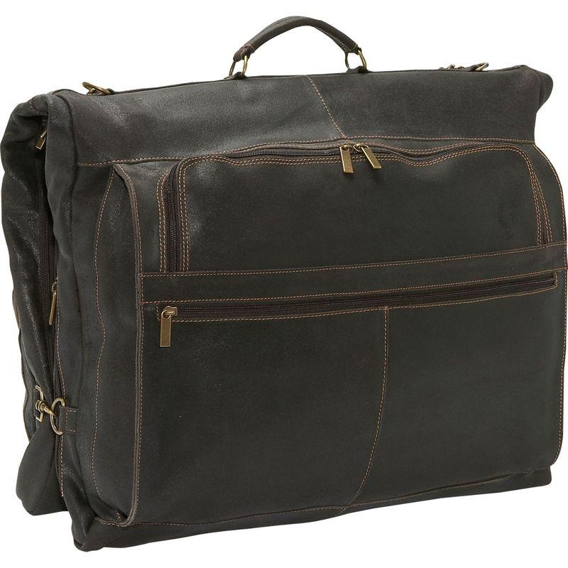 デビッドキング メンズ スーツケース バッグ Distressed Leather 42 Garment Bag Chocolate