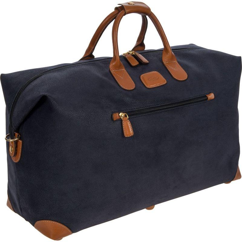 ブリックス メンズ スーツケース バッグ Life 22'' Cargo Duffle Blue / Cognac Trim