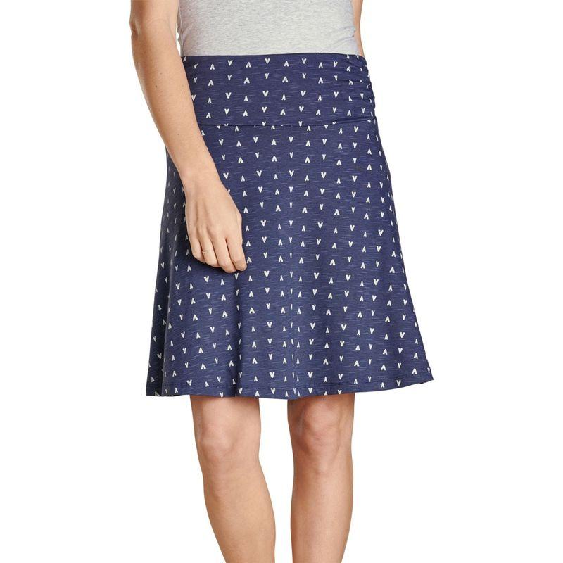 トードアンドコー レディース スカート ボトムス Chaka Skirt XS - True Navy V Print